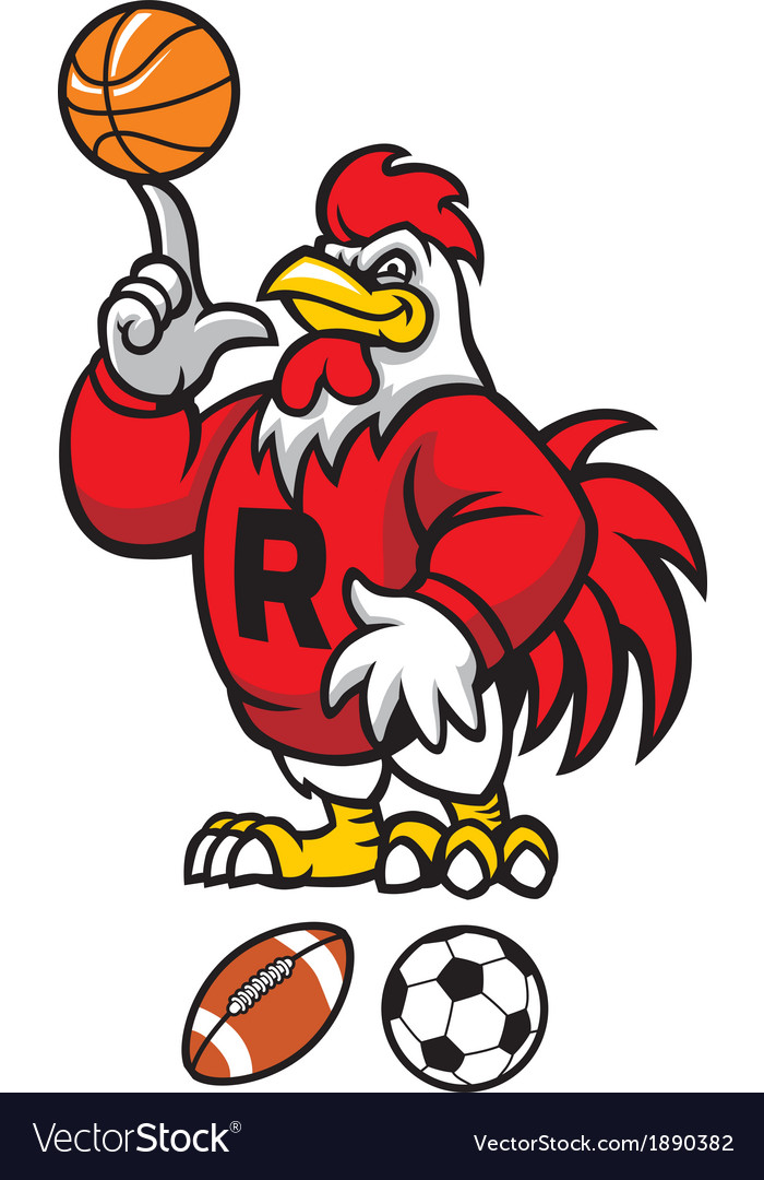 Rooster mascot vector | Price: 3 Credit (USD $3)
