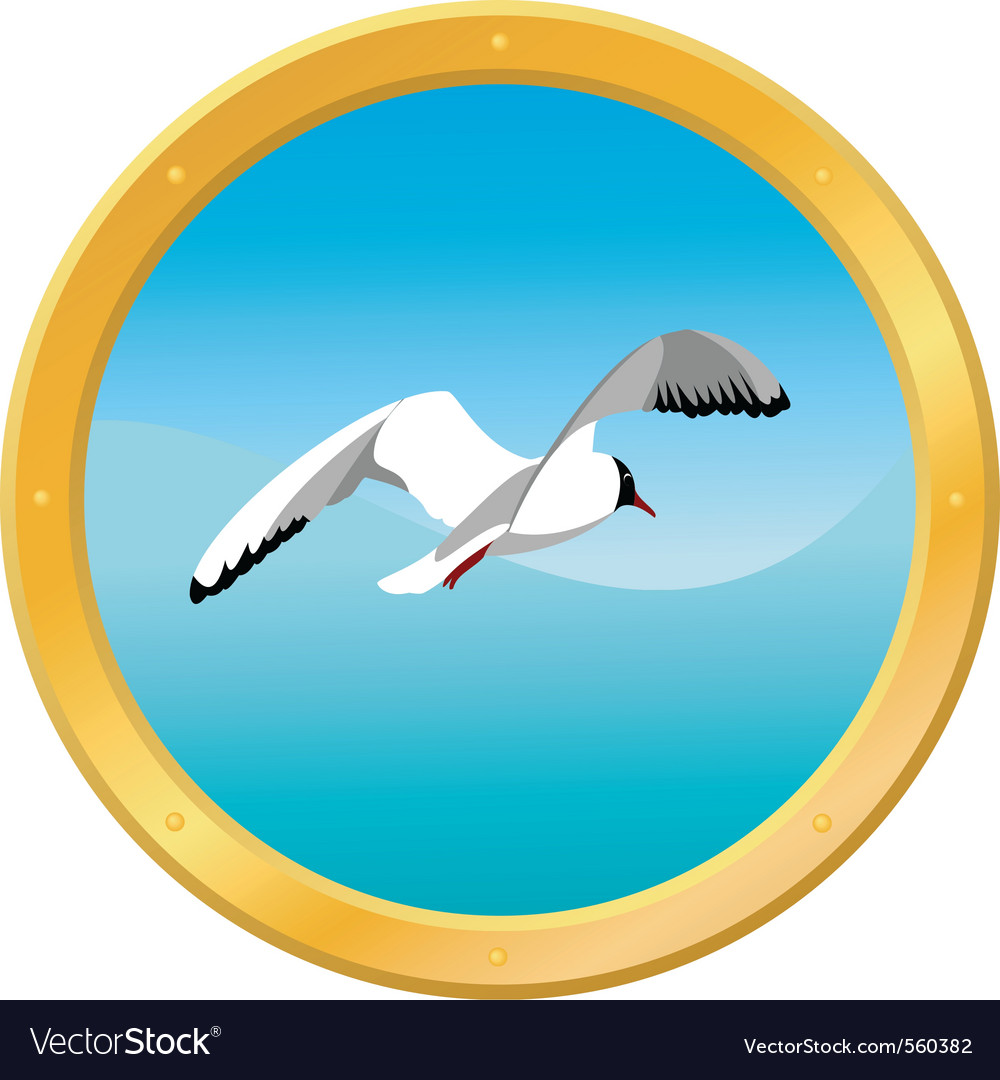 Seagull icon vector | Price: 1 Credit (USD $1)