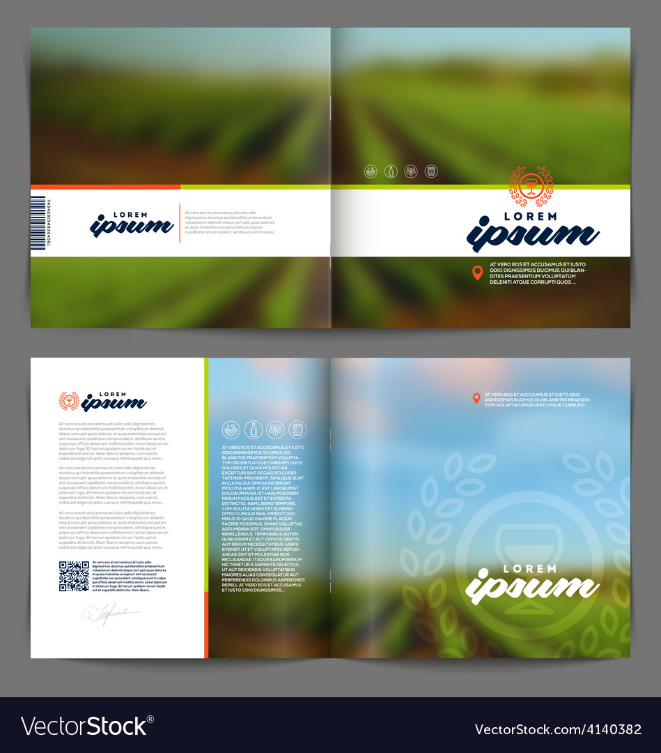 Template booklet design - wine and winemaking vector | Price: 1 Credit (USD $1)