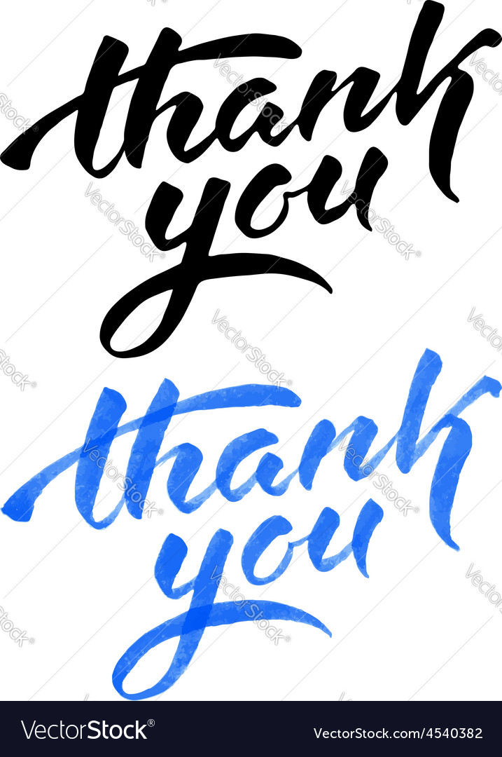 Thank you vector | Price: 1 Credit (USD $1)