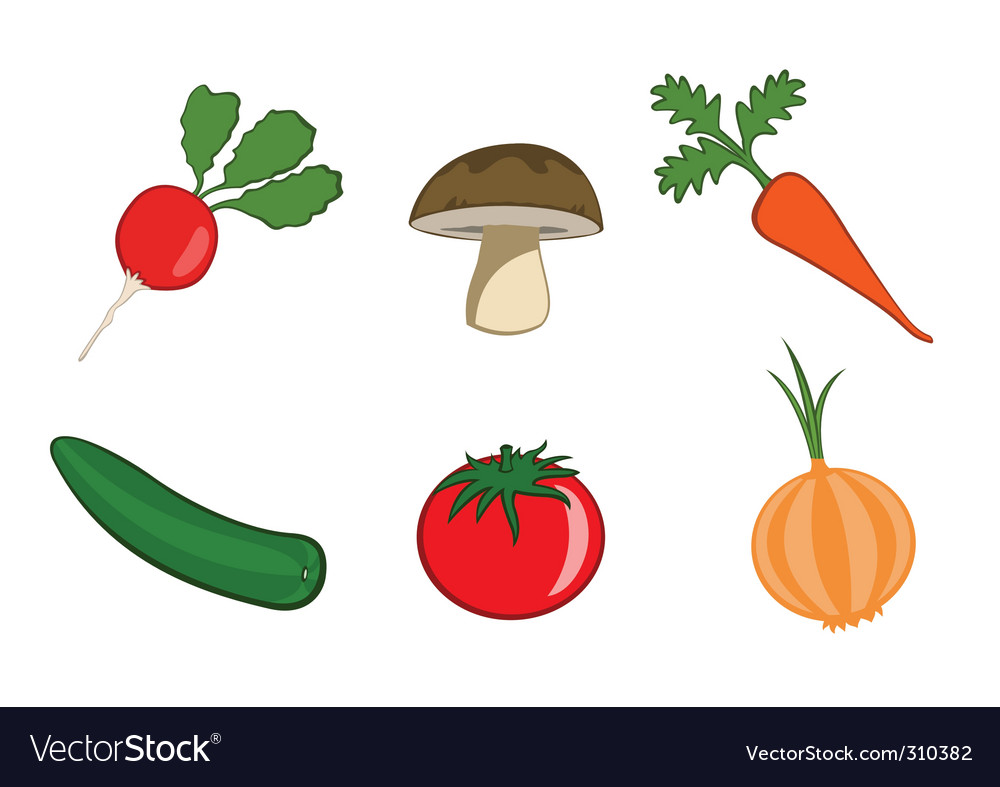 Vegetable icons vector | Price: 1 Credit (USD $1)