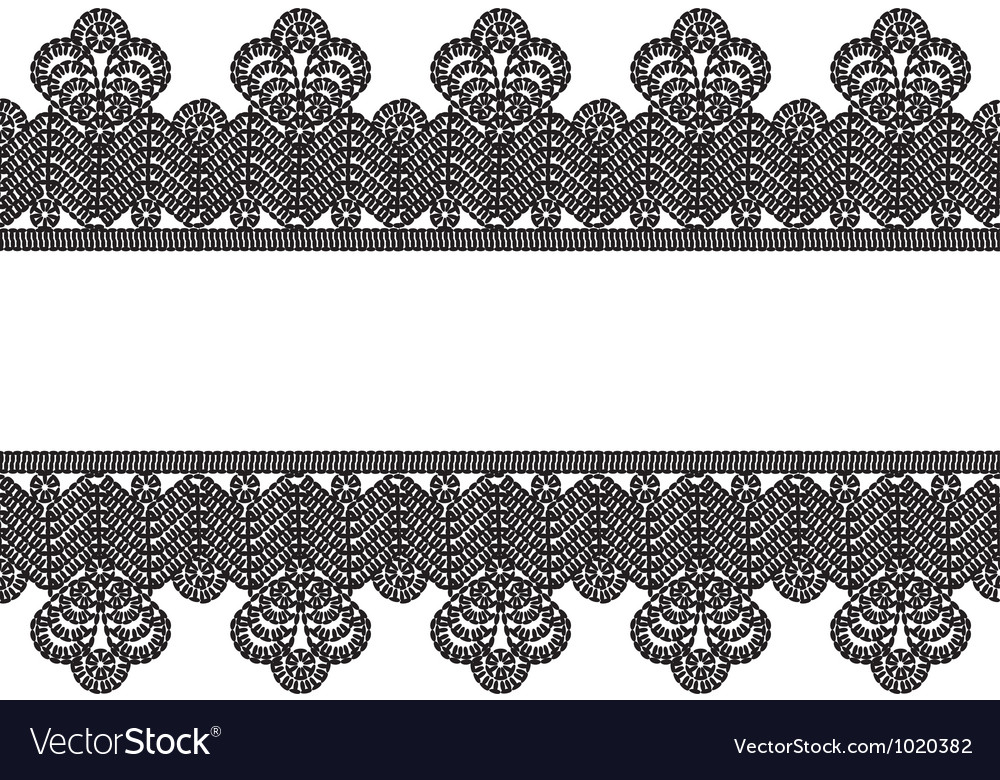 White background with black lace border frame vector | Price: 1 Credit (USD $1)