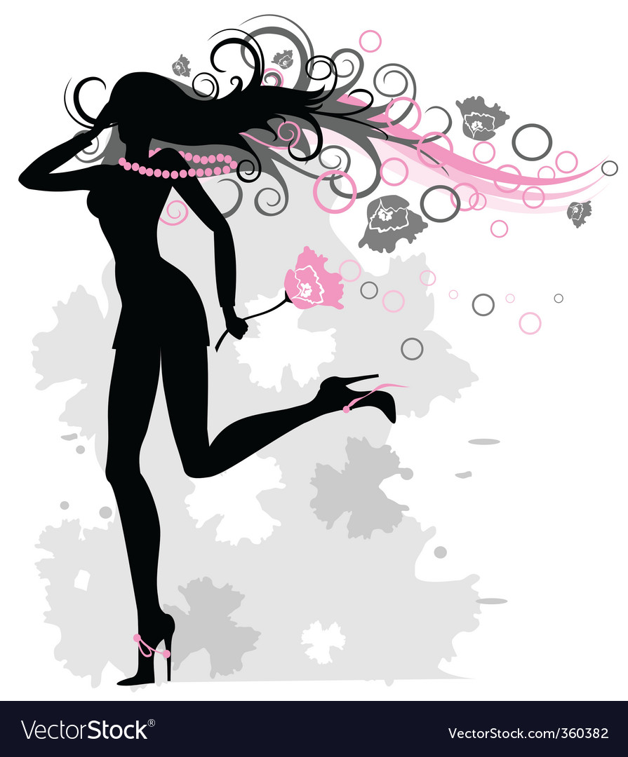 Woman spring vector | Price: 1 Credit (USD $1)