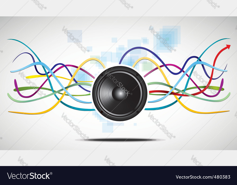 Abstract background with speaker vector | Price: 1 Credit (USD $1)