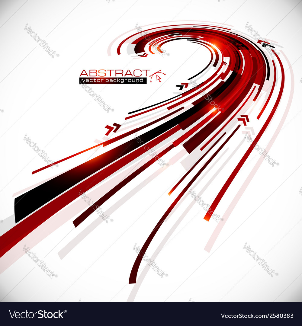 Abstract black and red perspective background vector | Price: 1 Credit (USD $1)