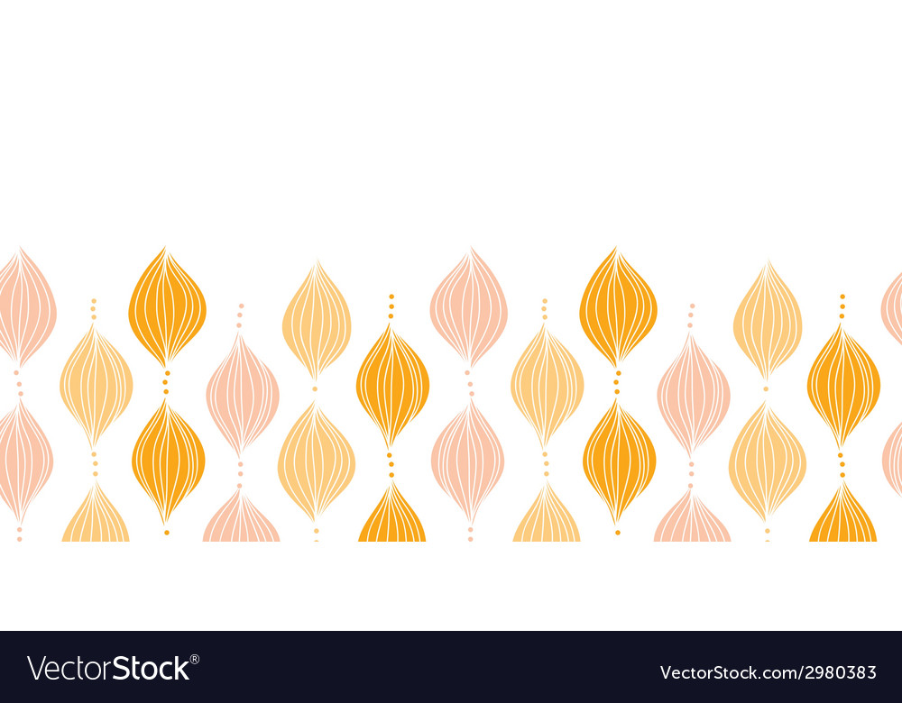 Abstract golden ogee horizontal border seamless vector | Price: 1 Credit (USD $1)