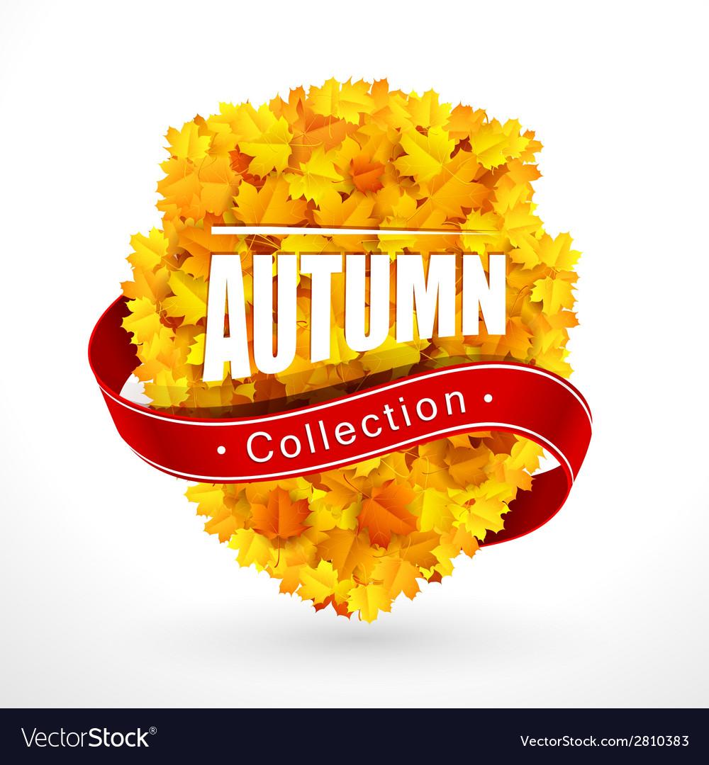 Autumn emblem vector | Price: 1 Credit (USD $1)