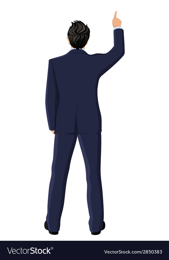 Businessman back view vector | Price: 1 Credit (USD $1)