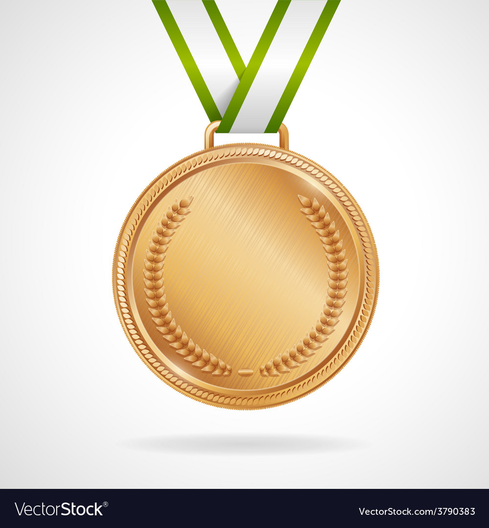 Copper medal with ribbon vector | Price: 1 Credit (USD $1)