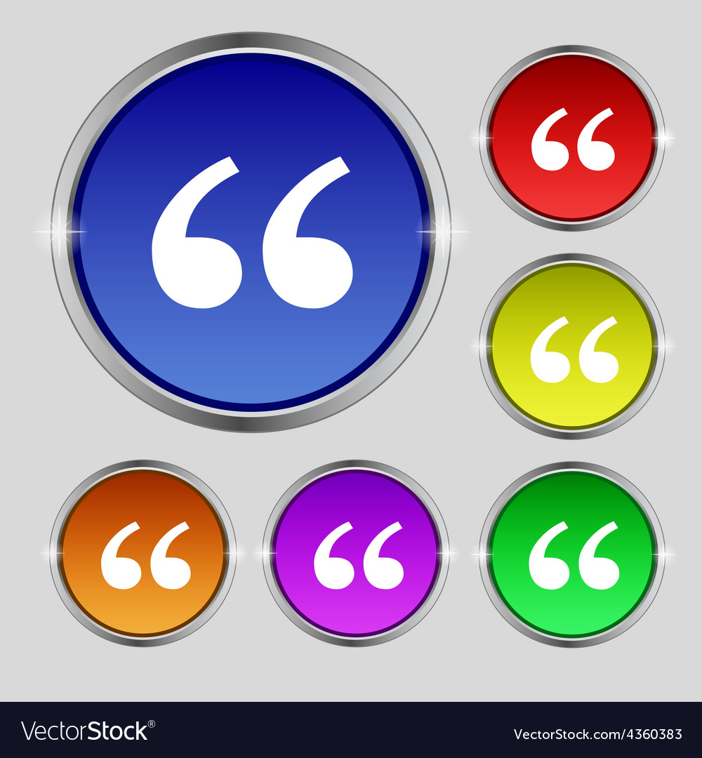 Double quotes at the beginning of words icon sign vector | Price: 1 Credit (USD $1)