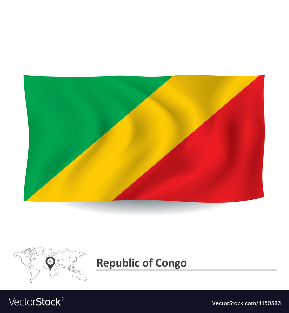 Flag of republic of congo vector   Price: 1 Credit (USD $1)