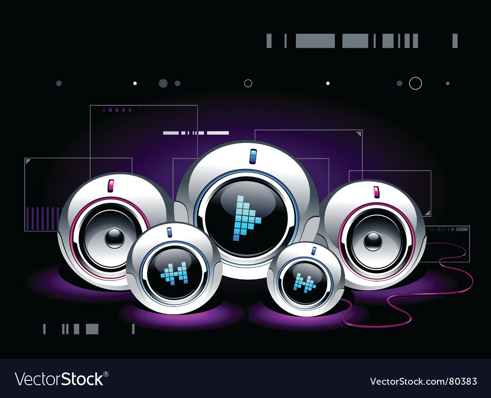 High tech sound system vector | Price: 3 Credit (USD $3)