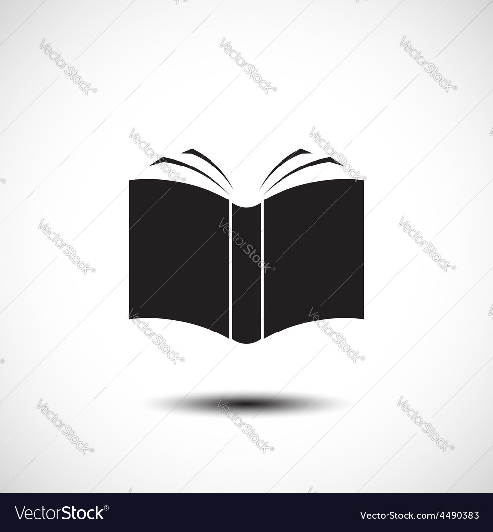 Open book icon vector | Price: 1 Credit (USD $1)