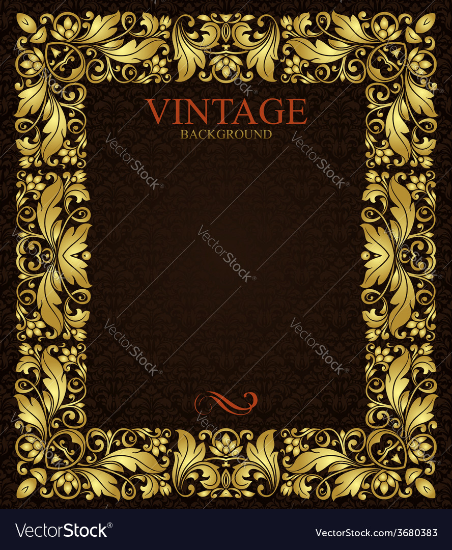 Ornate gold frame vector | Price: 1 Credit (USD $1)