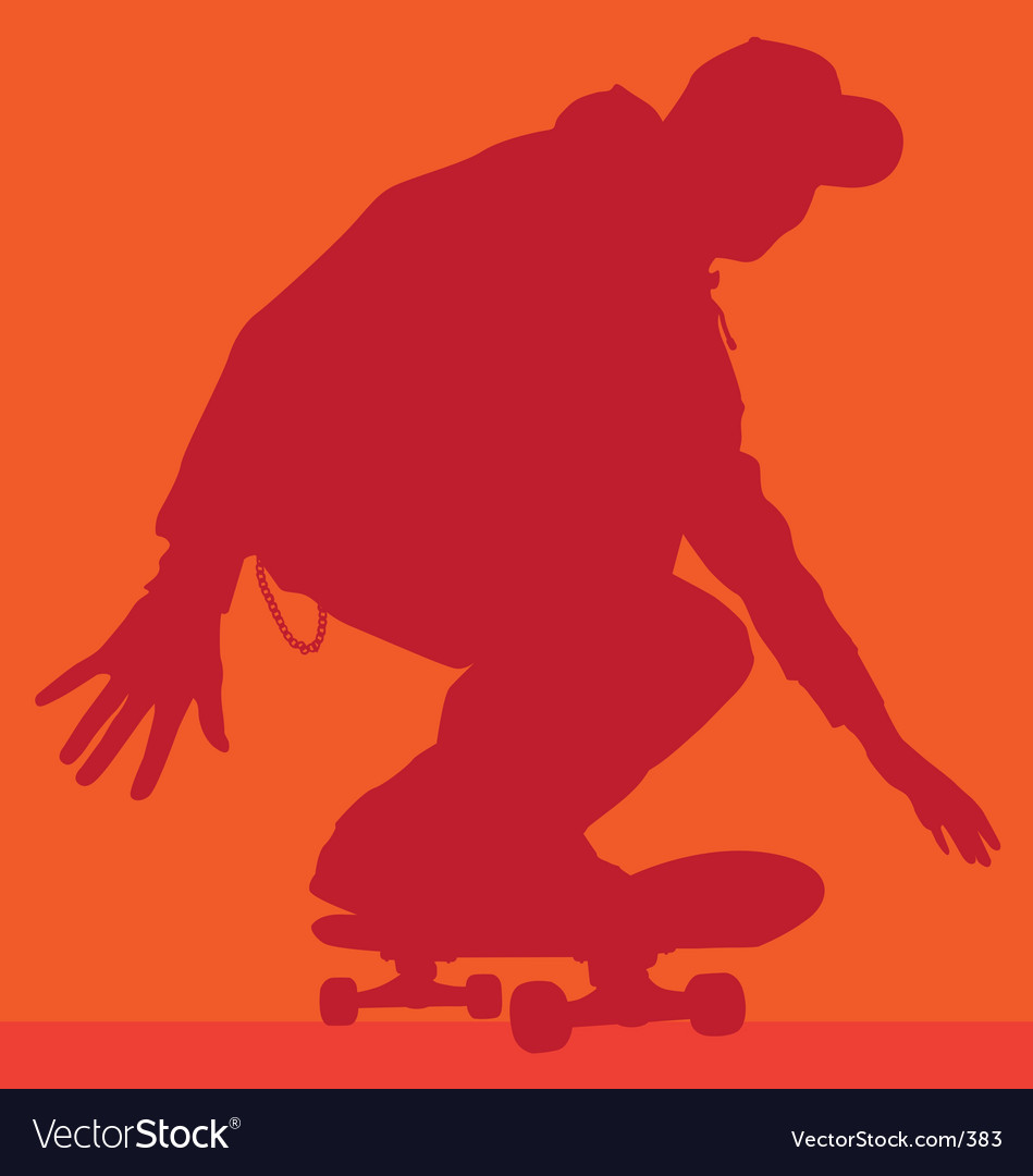 Skateboarder rolling vector | Price: 1 Credit (USD $1)