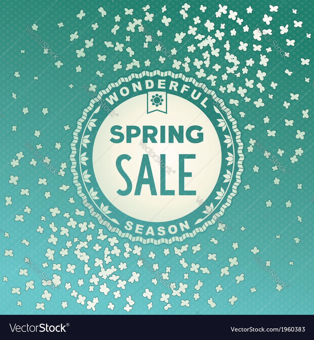 Spring sale label design vector | Price: 1 Credit (USD $1)