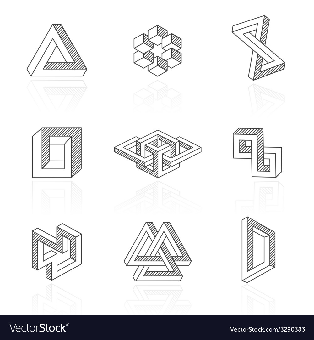 Trendy optical shapes on white vector | Price: 1 Credit (USD $1)