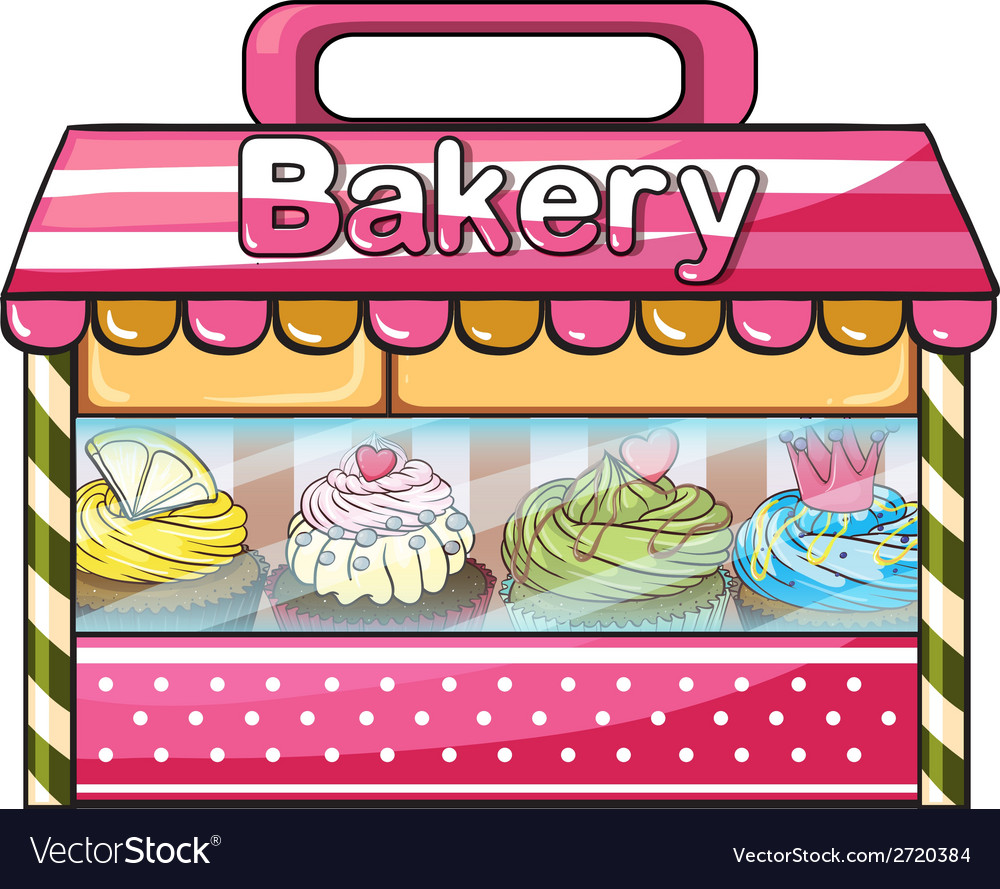 A bakery selling baked goodies vector | Price: 1 Credit (USD $1)