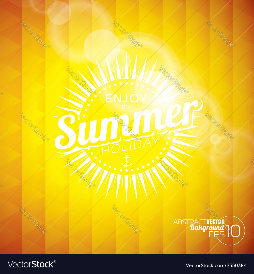 Abstract background on a summer holiday theme vector | Price: 1 Credit (USD $1)