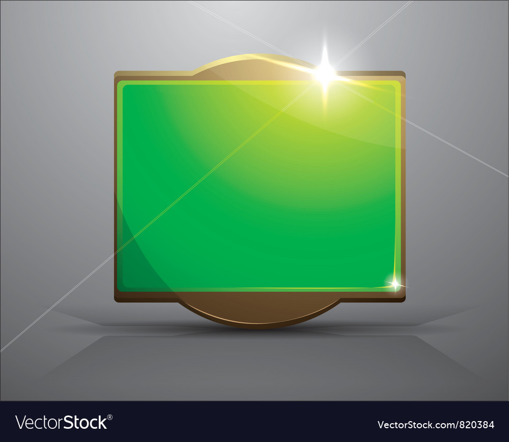 Empty frame- bright green banner vector | Price: 1 Credit (USD $1)