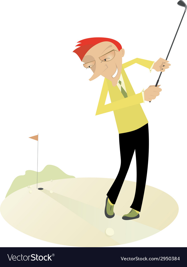 Good day for playing golf4 vector | Price: 1 Credit (USD $1)