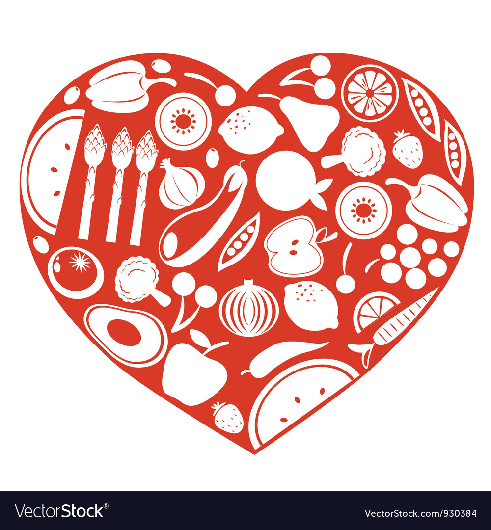Healthy food heart vector | Price: 1 Credit (USD $1)