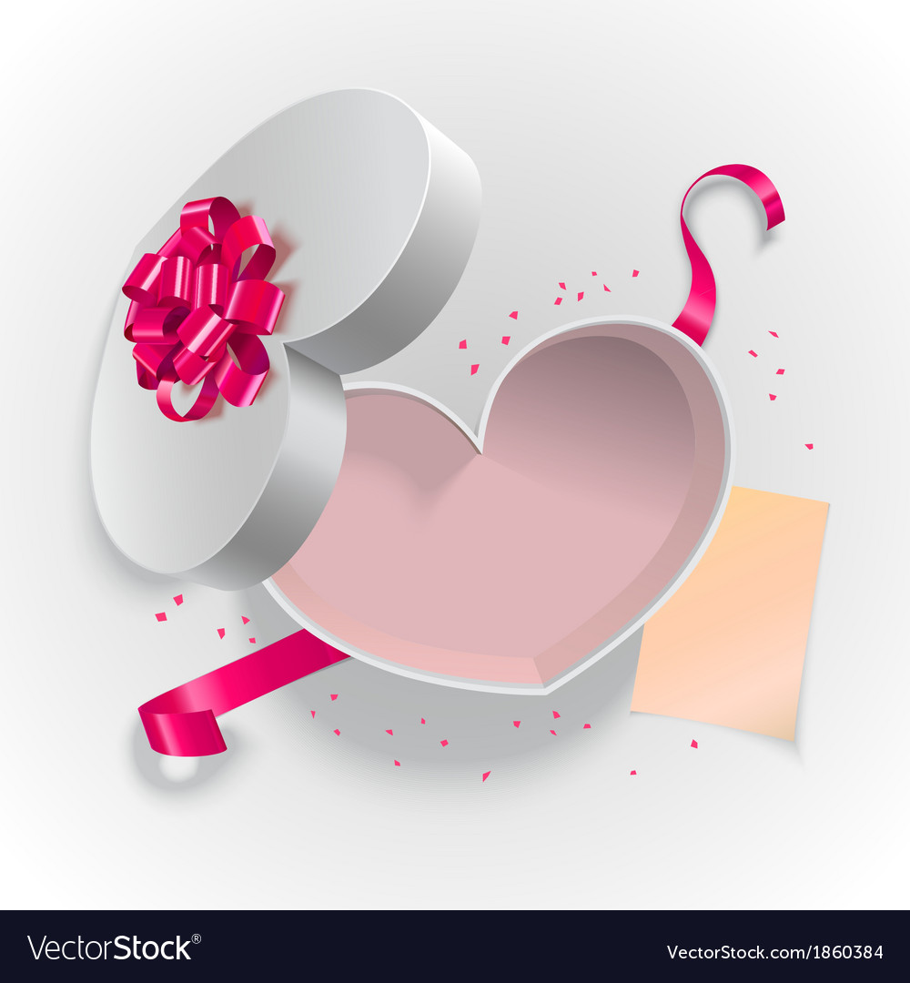 Heart box shape vector | Price: 1 Credit (USD $1)