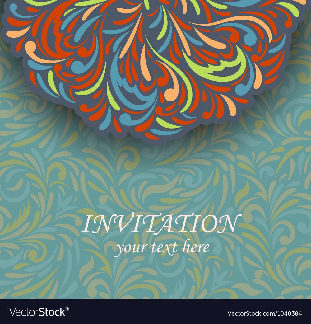 Invitation retro card vector   Price: 1 Credit (USD $1)