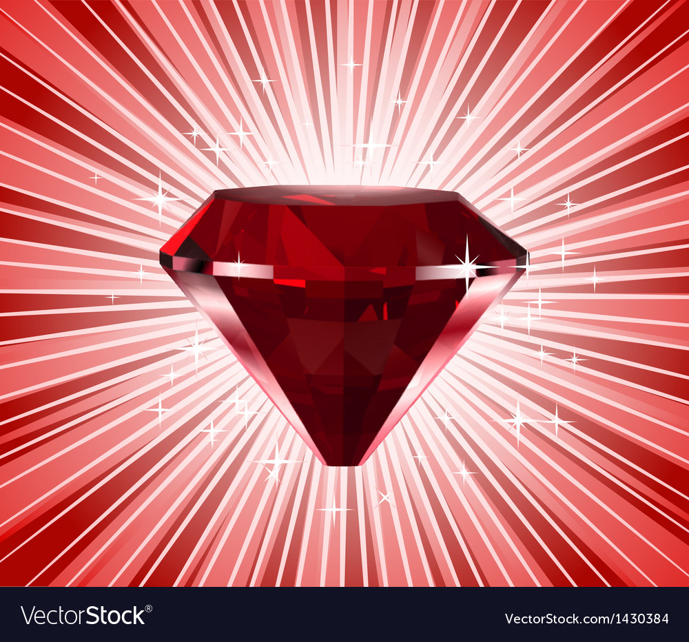 Red diamond shine background vector | Price: 1 Credit (USD $1)