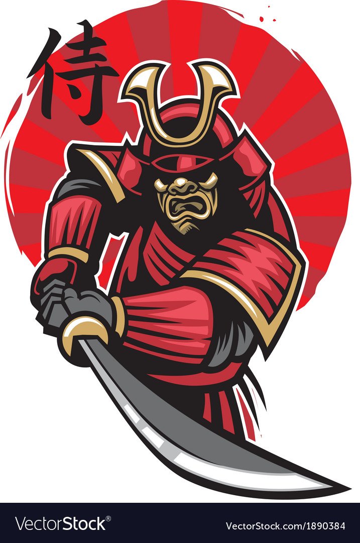 Samurai warrior vector | Price: 3 Credit (USD $3)