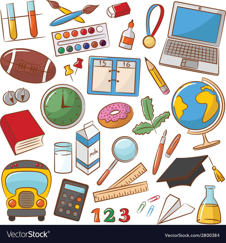 School education icons vector   Price: 1 Credit (USD $1)