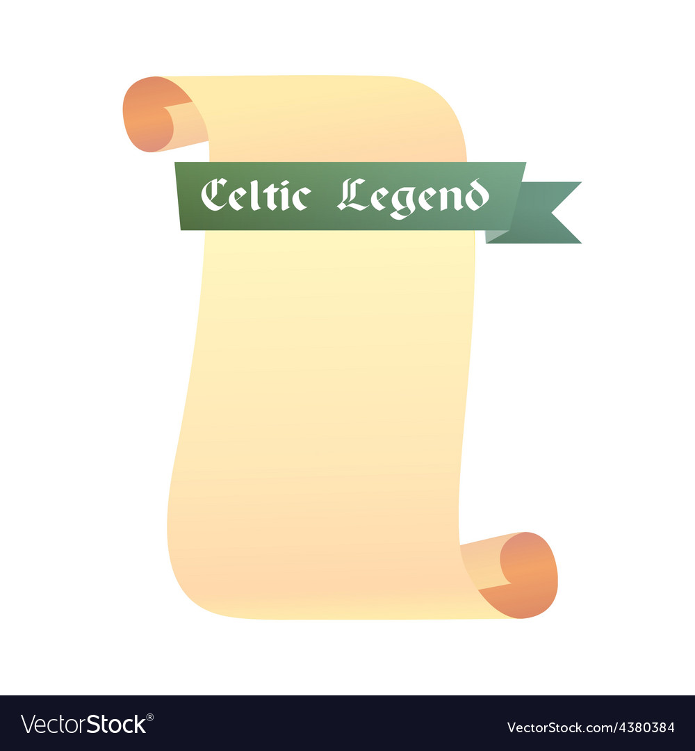 Scroll celtic legend vector | Price: 1 Credit (USD $1)