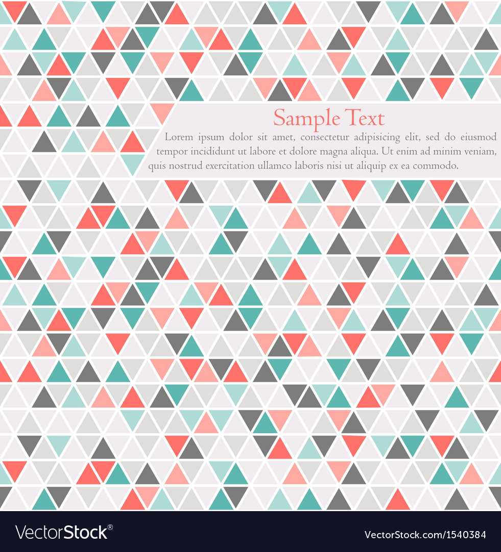 Triangle background card template with place for vector | Price: 1 Credit (USD $1)