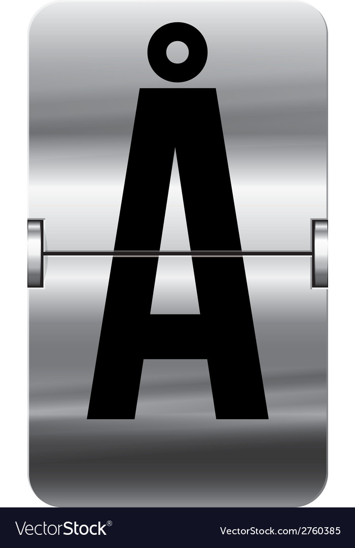 Alphabet silver flipboard letters aa vector | Price: 1 Credit (USD $1)