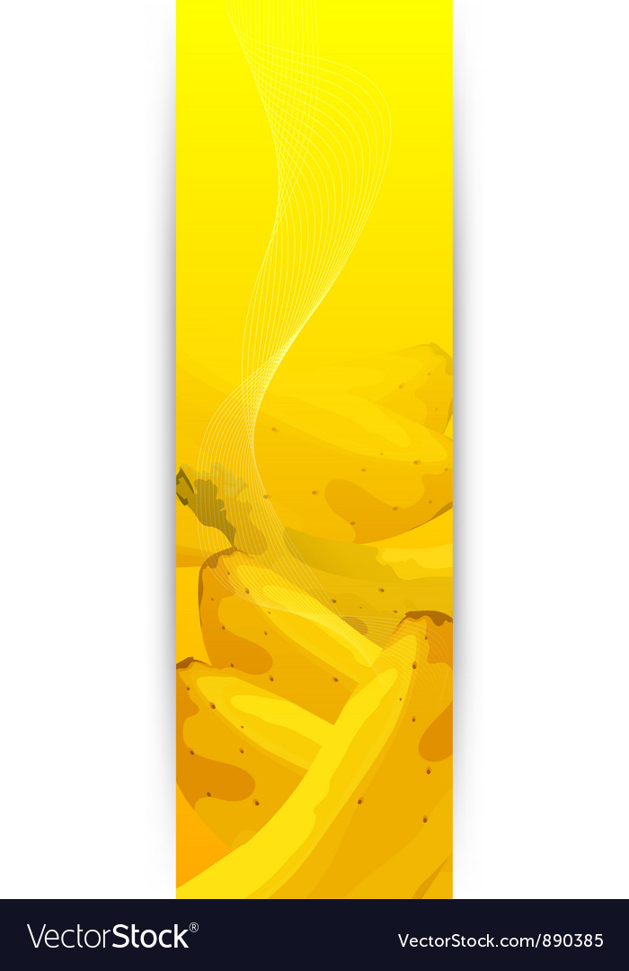 Banana flyer 10 vector | Price: 3 Credit (USD $3)