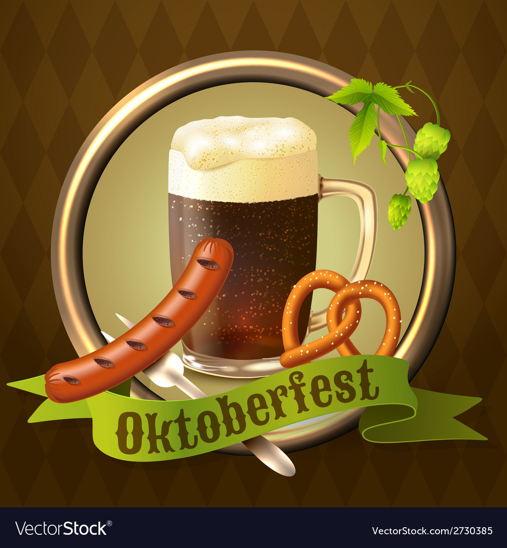 Beer mugs octoberfest poster vector   Price: 1 Credit (USD $1)