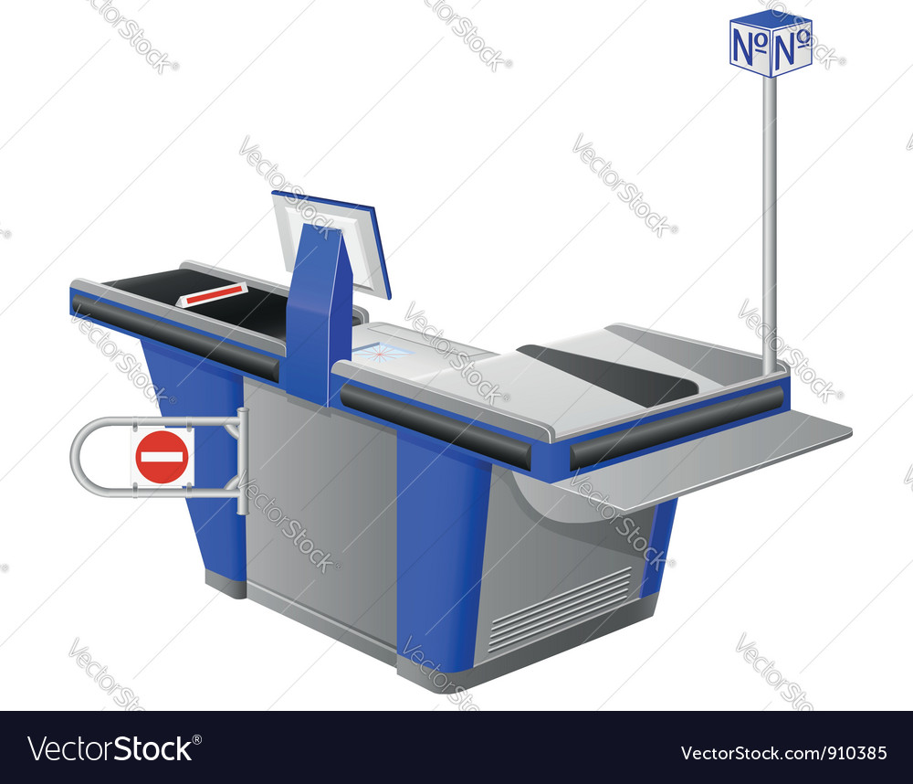 Cash register terminal vector | Price: 3 Credit (USD $3)