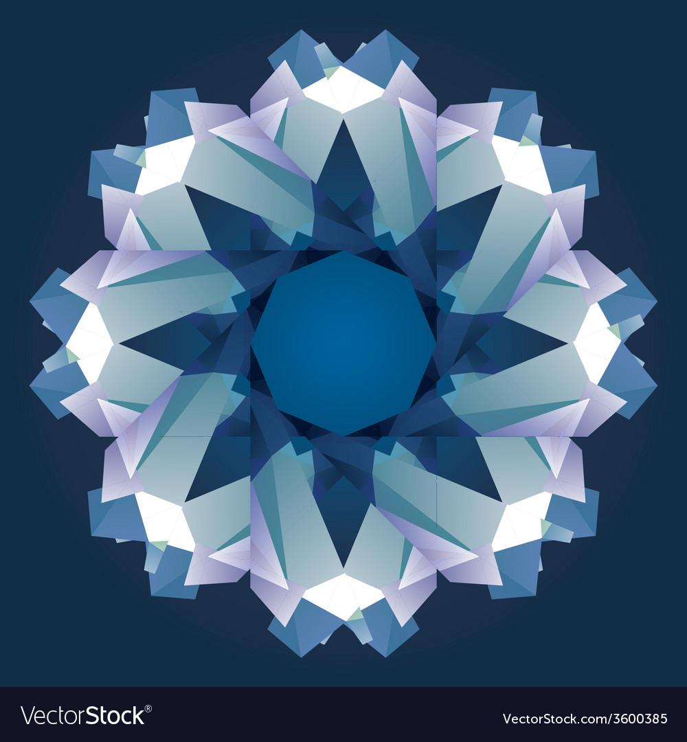 Christmas circle crystal ornament vector | Price: 1 Credit (USD $1)
