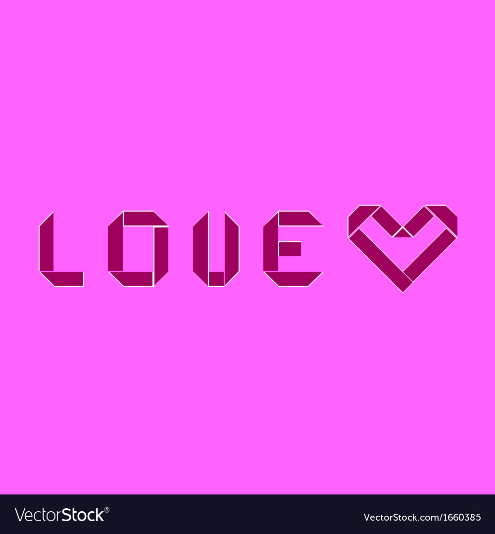 Create love and heart origami style vector   Price: 1 Credit (USD $1)