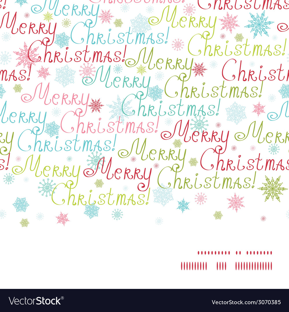 Merry christmas text horizontal frame seamless vector | Price: 1 Credit (USD $1)