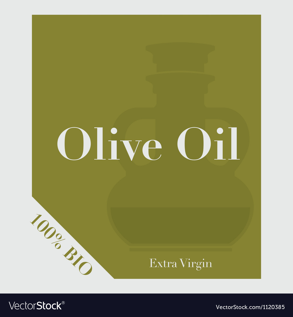 Olive oil label vector | Price: 1 Credit (USD $1)