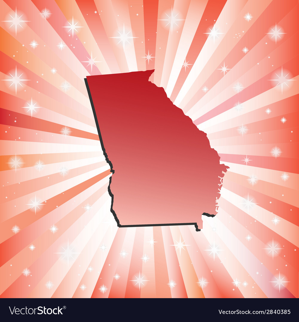 Red georgia vector | Price: 1 Credit (USD $1)