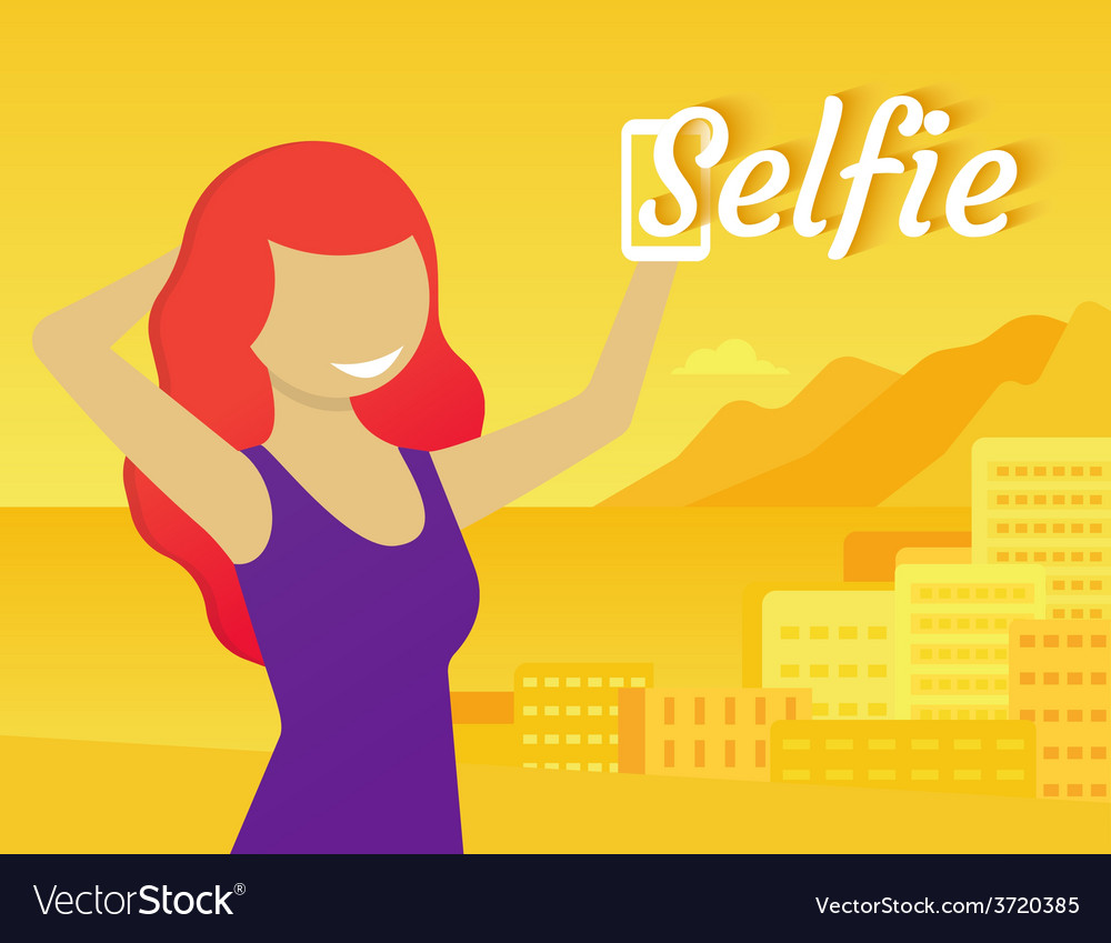 Selfie vector | Price: 1 Credit (USD $1)