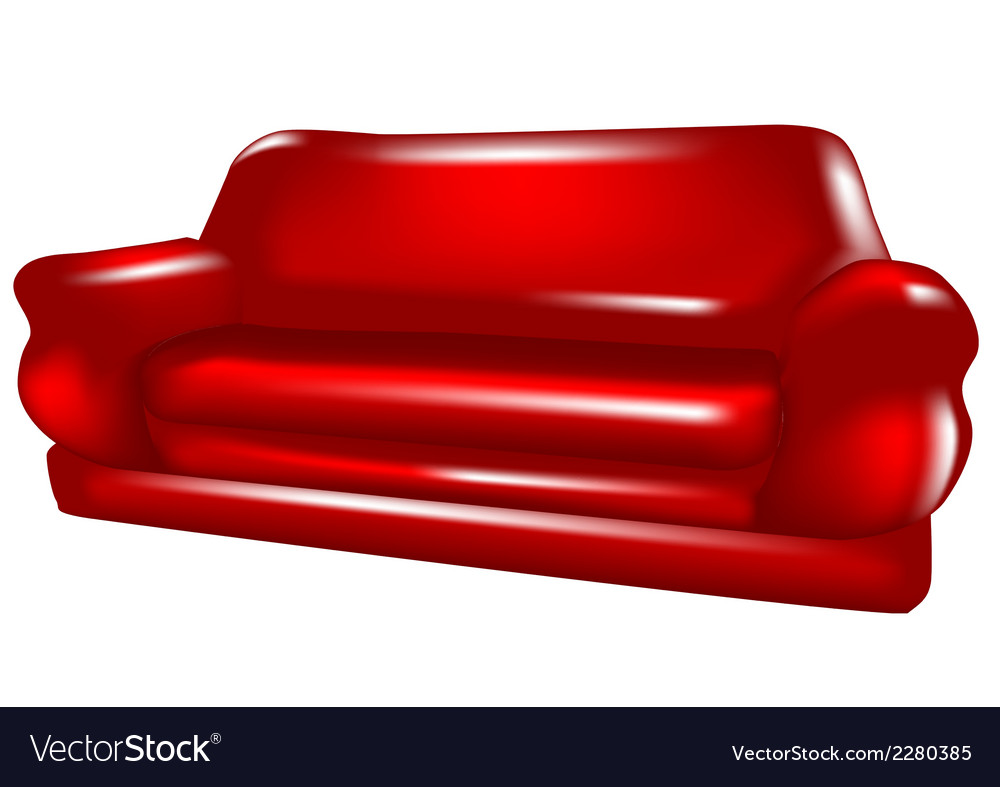 Sofa isolated vector | Price: 1 Credit (USD $1)