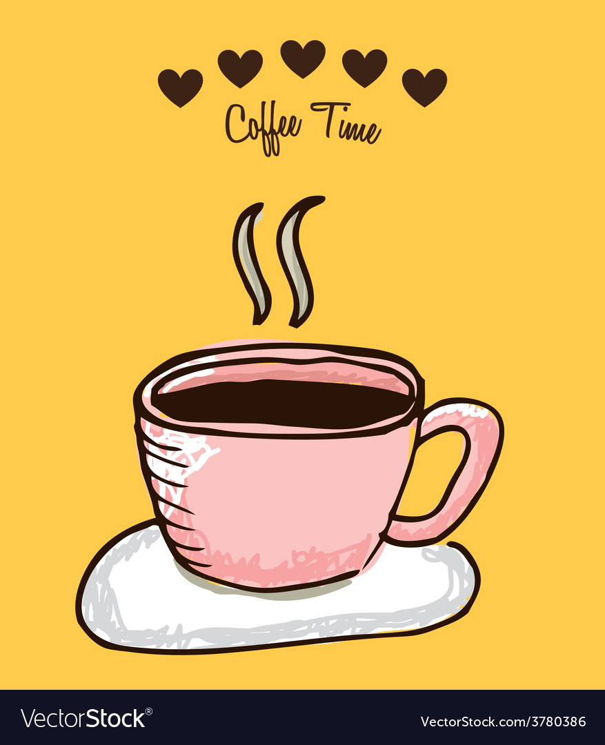 Coffee time vector   Price: 1 Credit (USD $1)