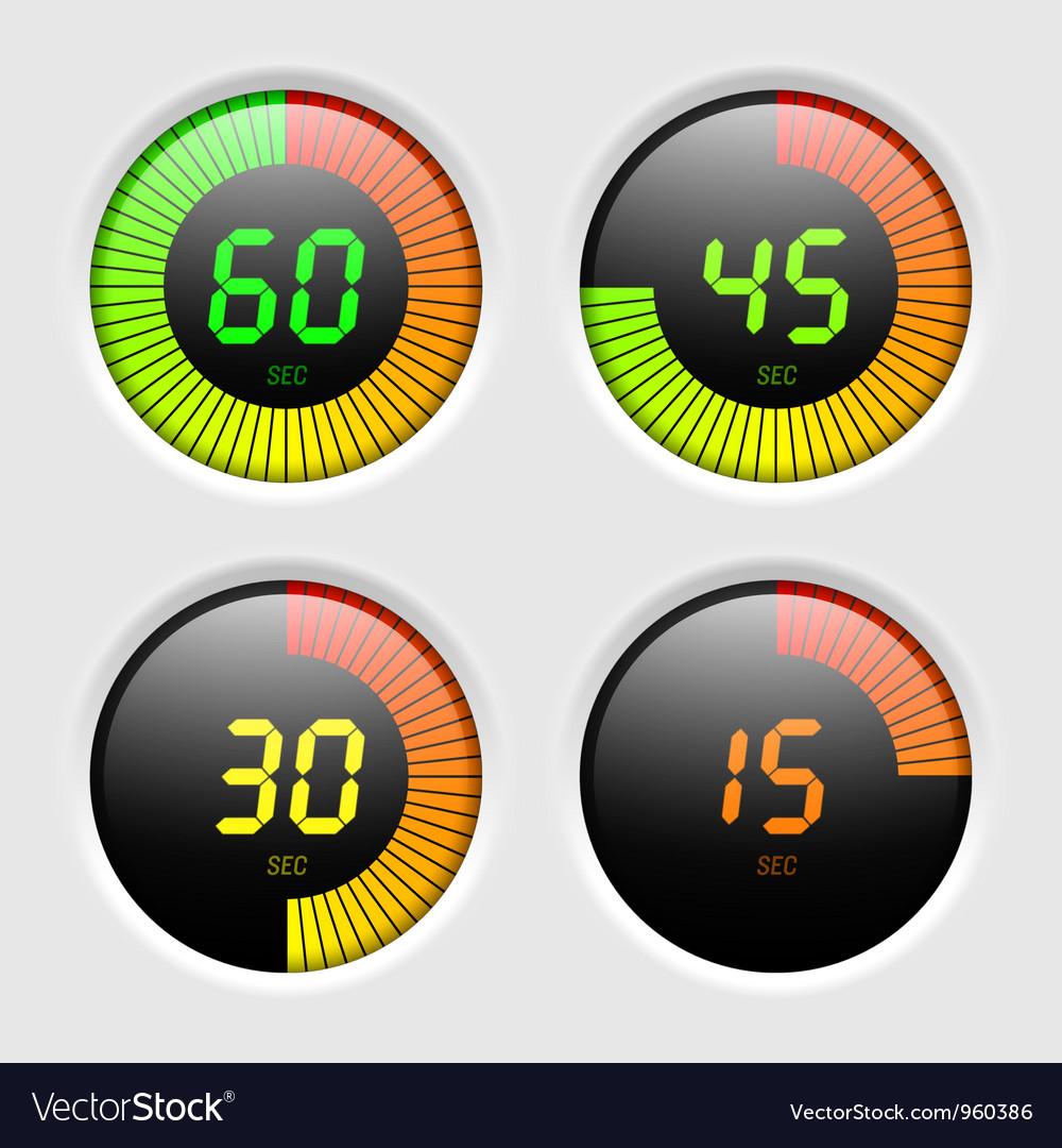 Digital timer vector | Price: 3 Credit (USD $3)