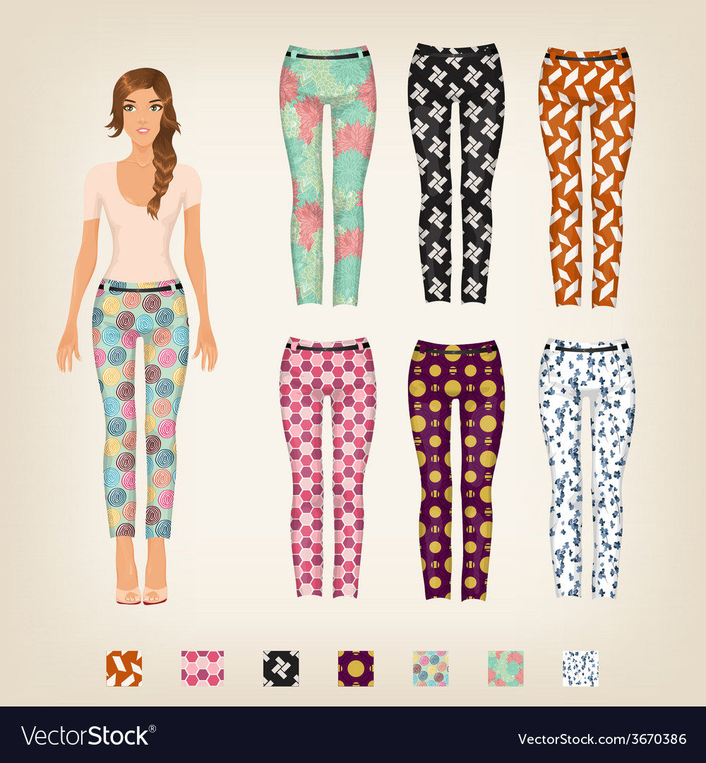Dress up paper doll with an assortment of vector | Price: 1 Credit (USD $1)