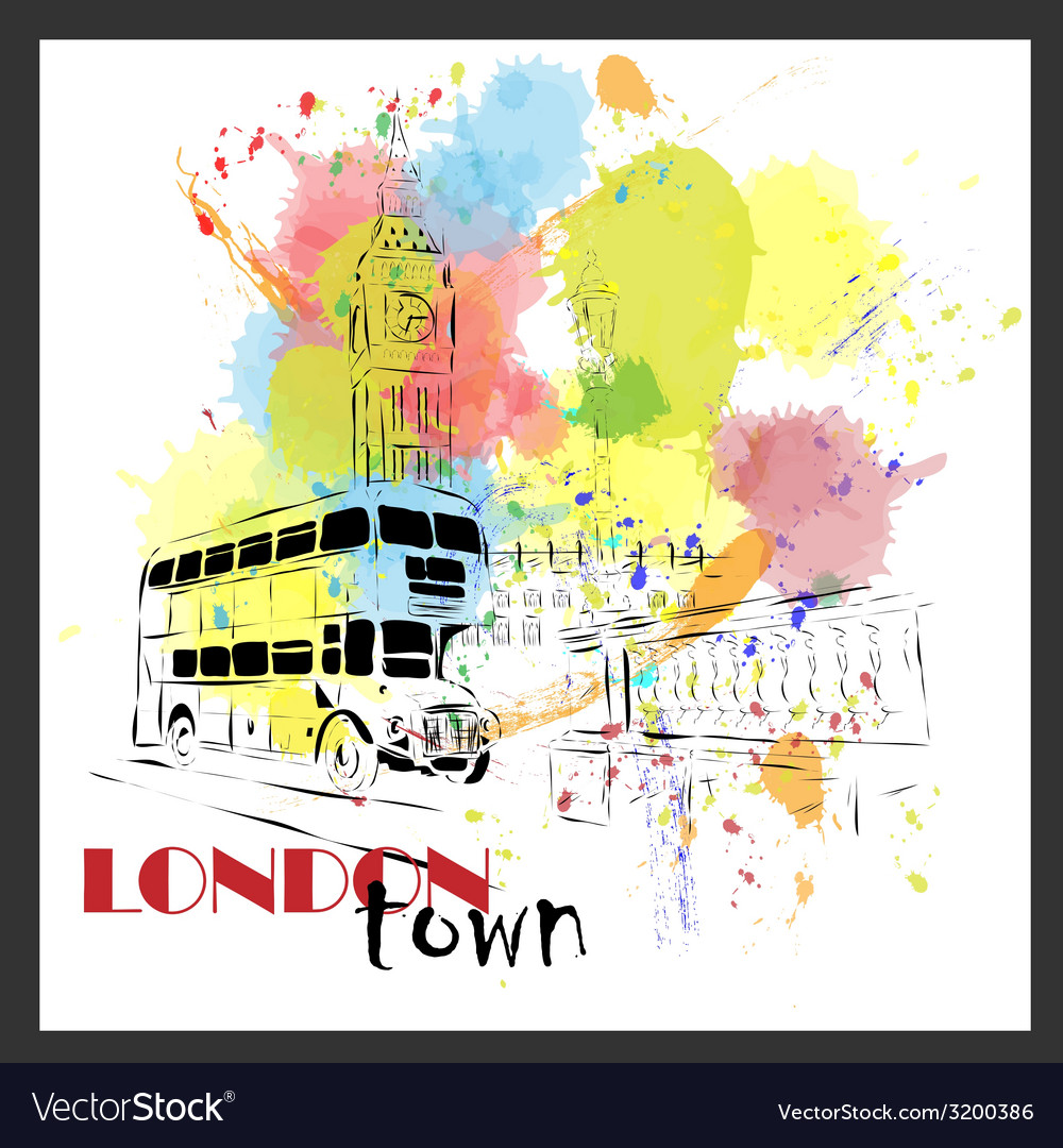 European capital sketch london vector | Price: 1 Credit (USD $1)