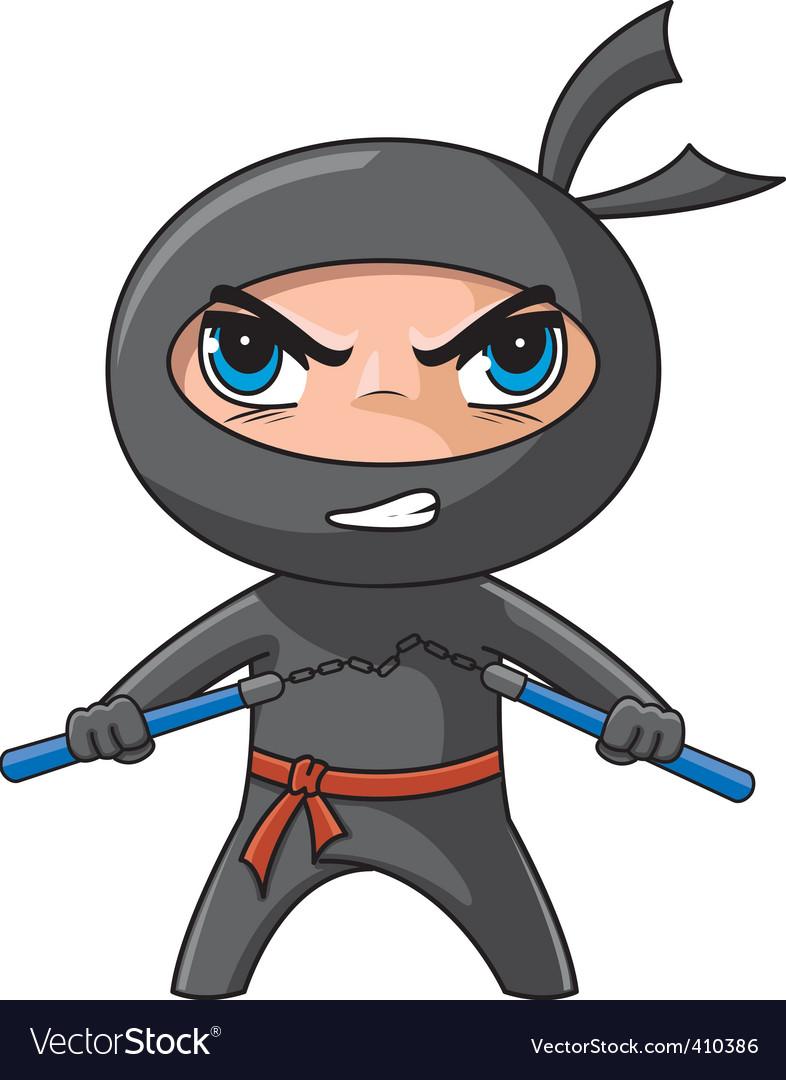Ninja cartoon vector | Price: 3 Credit (USD $3)