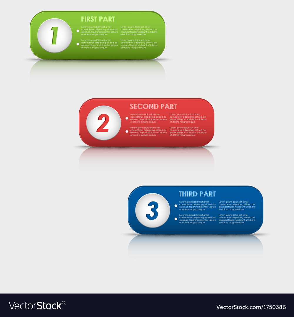Options progress of colored rectangular buttons vector | Price: 1 Credit (USD $1)